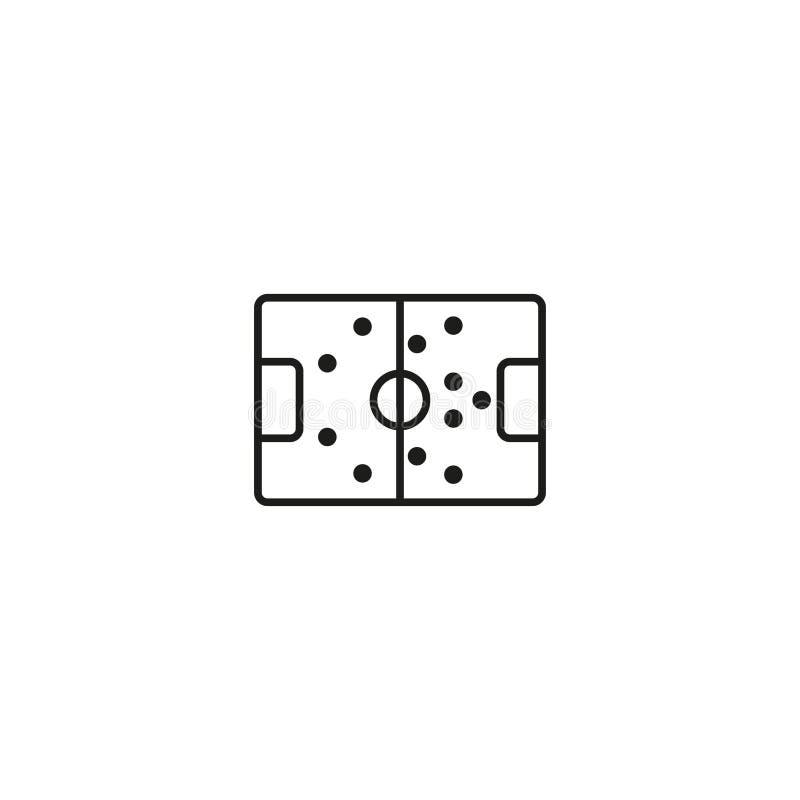 Суд футбола в черном значке на белизне иллюстрация штока