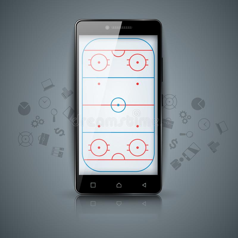 Суд хоккея Спорт temlate спорта иллюстрация вектора