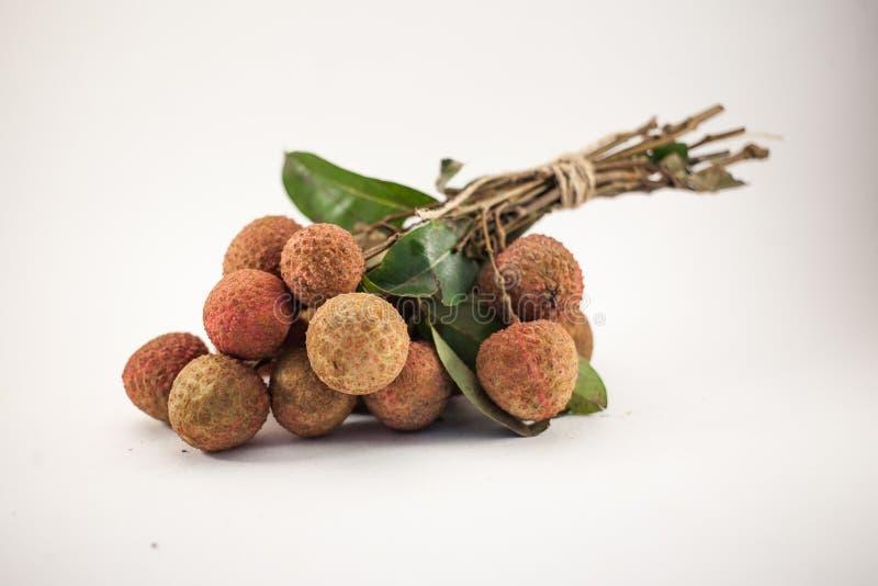 Суд lychee изолированный на белой предпосылке стоковая фотография