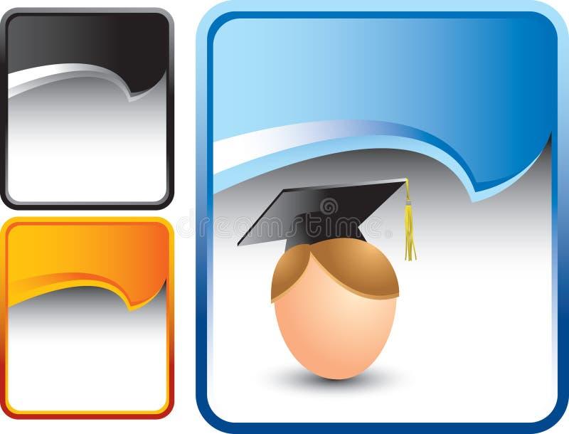 сулой студент-выпускника голубой скручиваемости предпосылки бесплатная иллюстрация