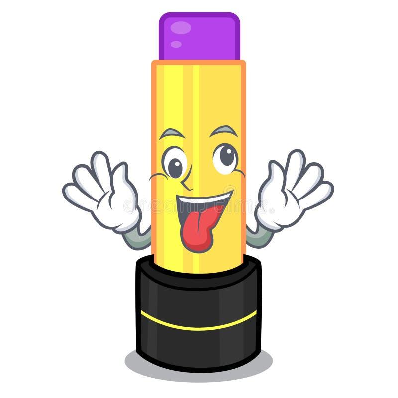 Сумасшедший бальзам губы в форме мультфильма иллюстрация штока