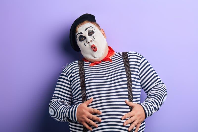 Сумасшедший клоун делая стороны, сумасшествие, концепцию craziness стоковые фотографии rf