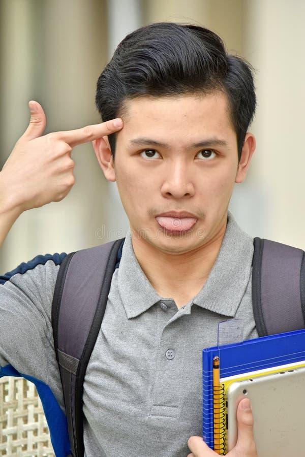 Сумасшедший студент мальчика стоковые изображения rf