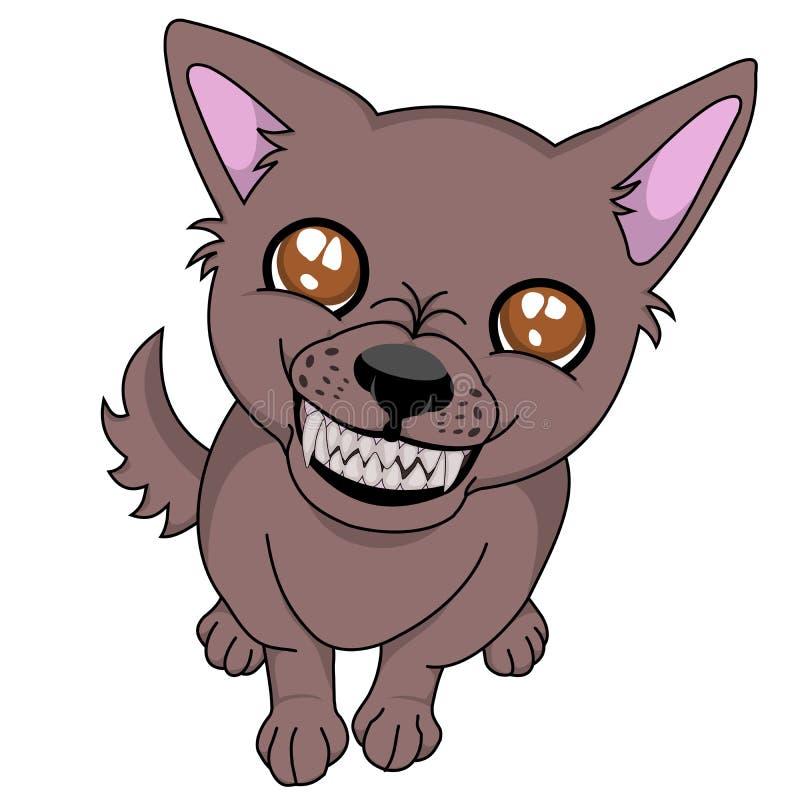 Сумашедшая собака иллюстрация вектора