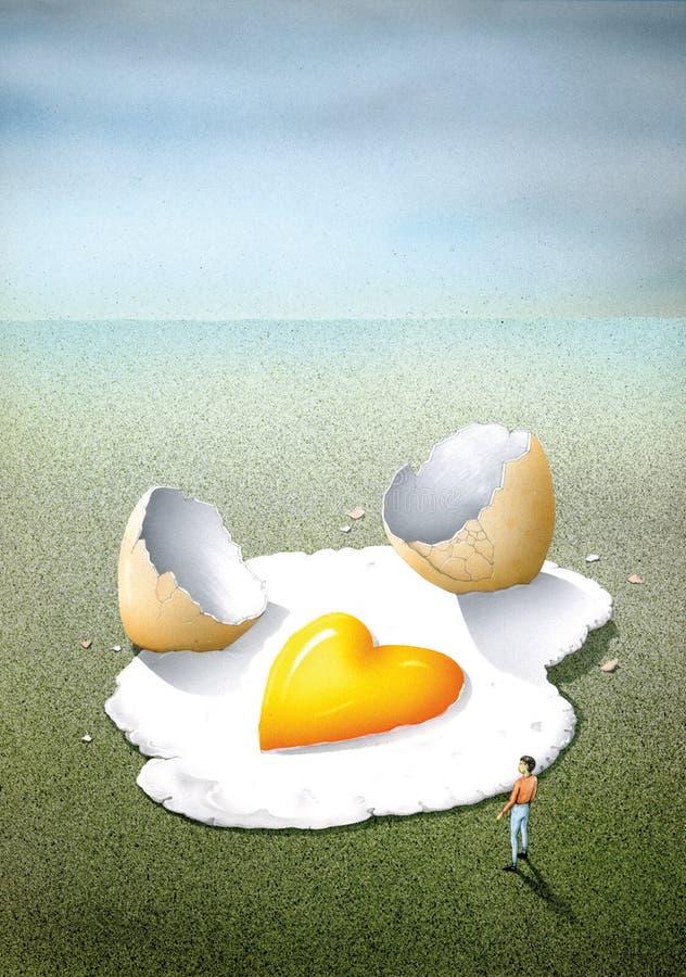 Сумашедше в влюбленности, как яичница бесплатная иллюстрация