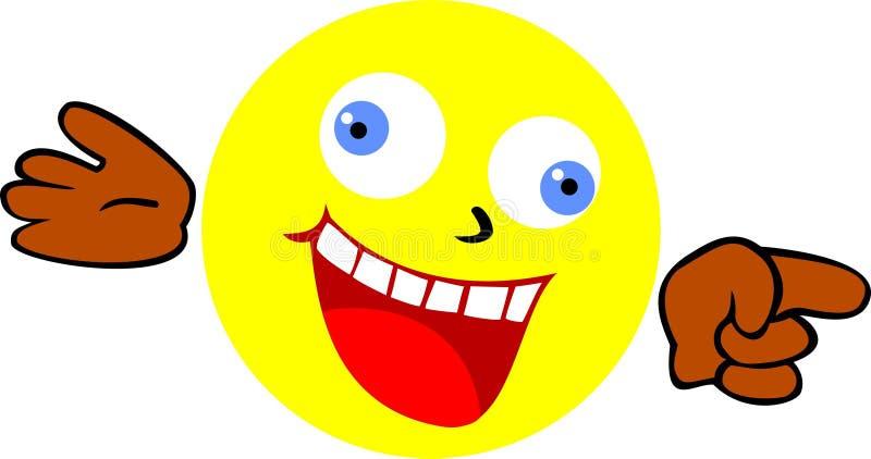 Сумашедше смеясь над smiley Smiley смеется над на кто-то бесплатная иллюстрация
