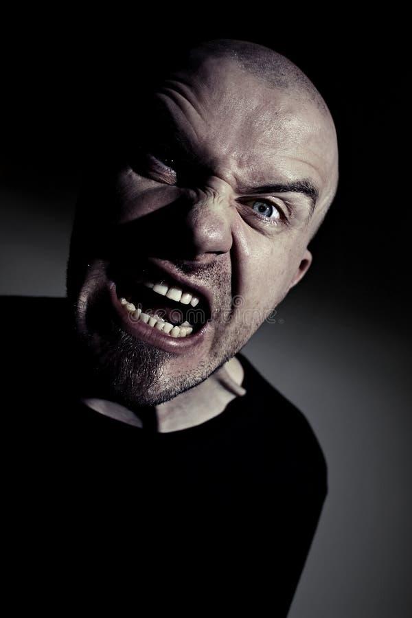 сумашедший человек Screaming Стоковое Изображение RF