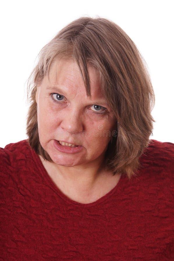 Сумашедшая женщина стоковые фото