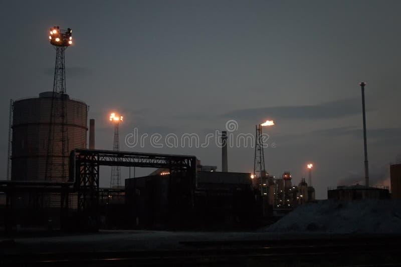 Сумерки сталеплавильного производства Великобритании стоковые фотографии rf