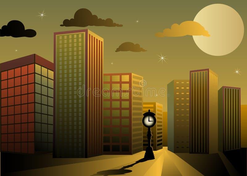 сумерк города иллюстрация штока