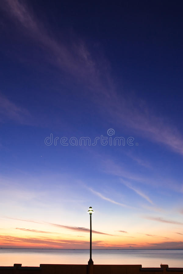 сумерк Таиланда пляжа южное стоковое изображение rf