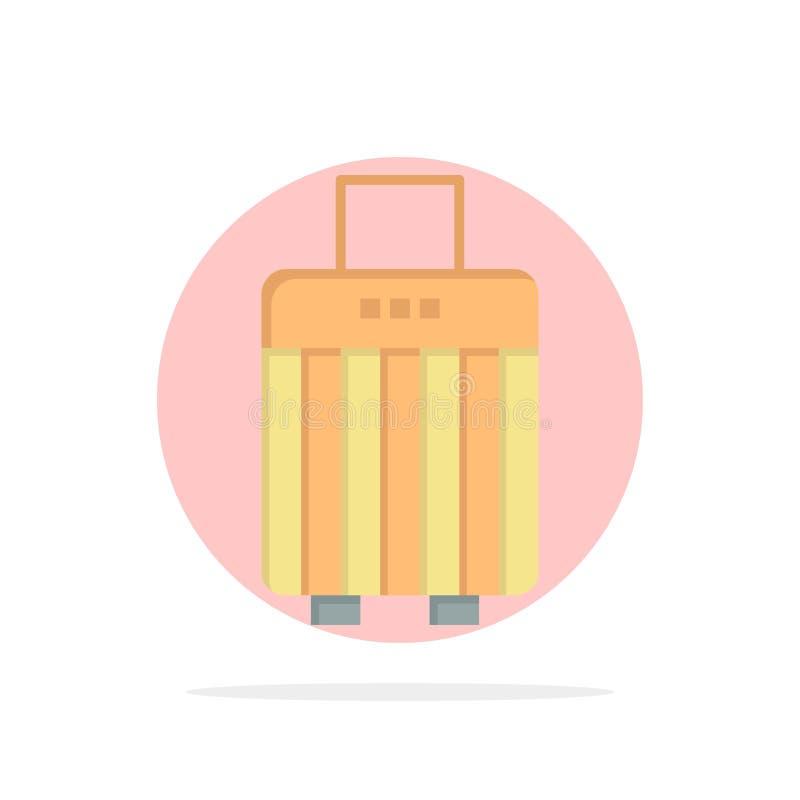 Сумка, багаж, сумка, значок цвета предпосылки круга конспекта покупки плоский бесплатная иллюстрация