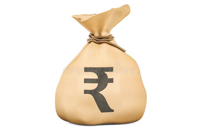 Сумка денег с рупией, переводом 3D бесплатная иллюстрация