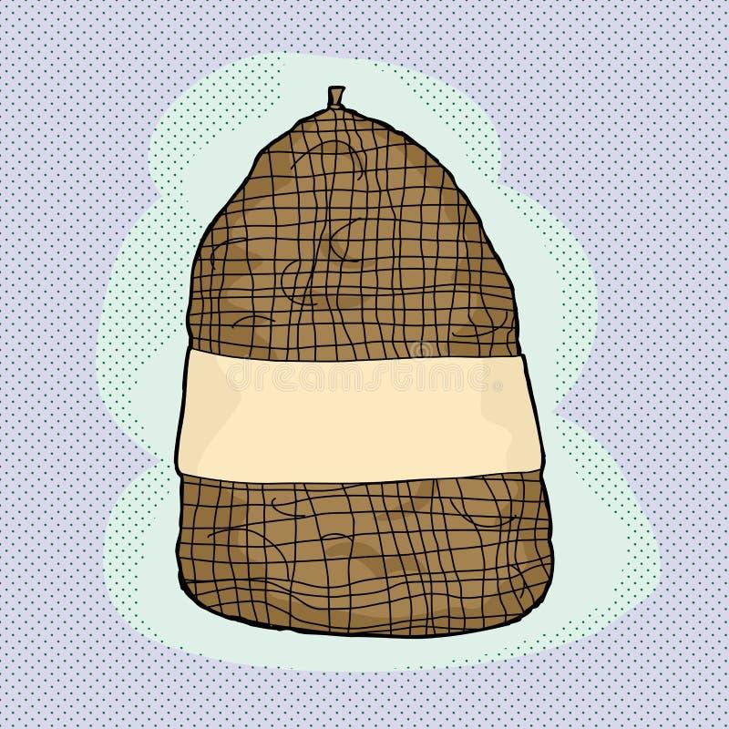 Сумка картошек иллюстрация штока