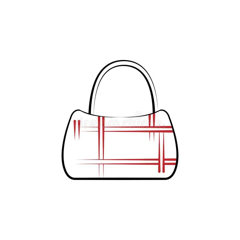 сумка, сумка, кожа, линия значок портмона 2 покрашенная Простая иллюстрация покрашенного элемента сумка, сумка, кожа, символ план иллюстрация штока