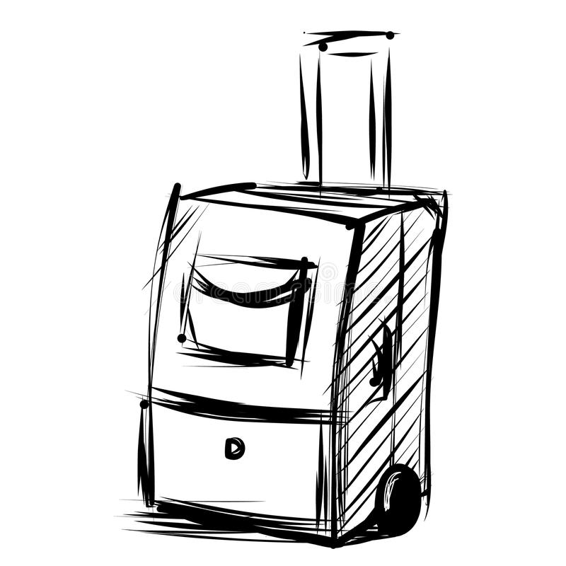 Download Сумка перемещения на колесах. Иллюстрация вектора - иллюстрации насчитывающей bagel, страна: 40584079