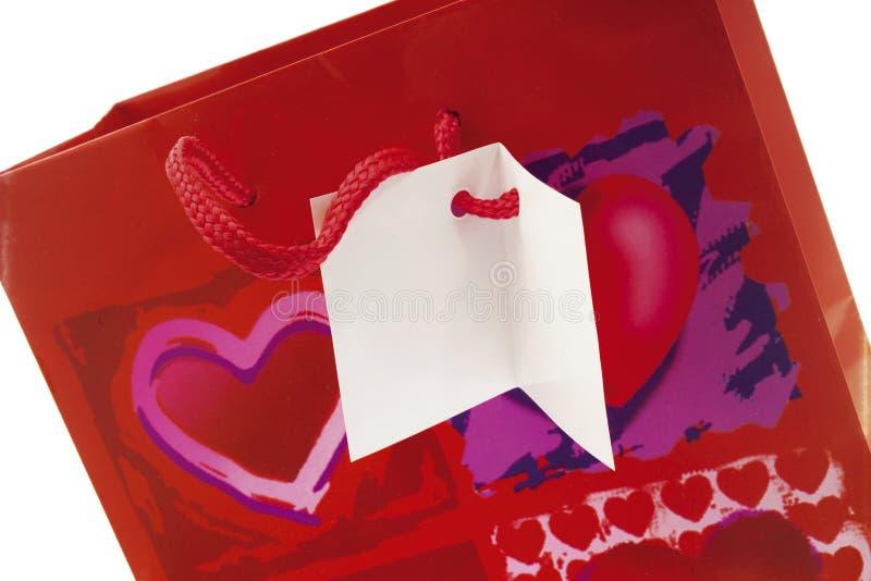 Сумка подарка, конец-вверх стоковое изображение