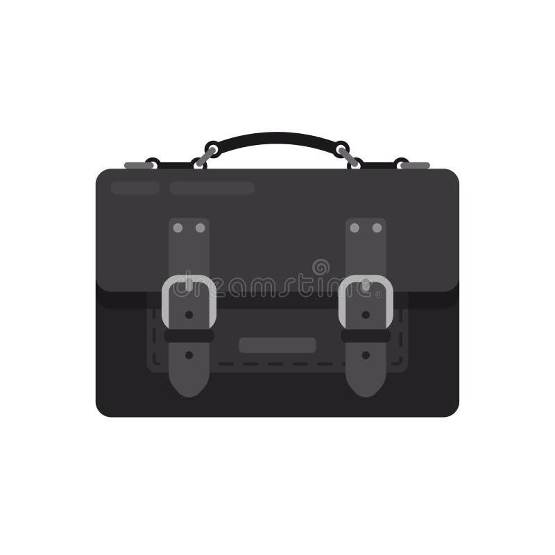 Сумка реалистических чернокожих человеков кожаная с поясом Дело портфеля иллюстрация штока