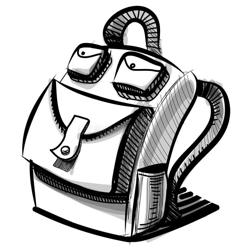 Download Сумка рюкзака школы или туриста изолированная на белизне Иллюстрация вектора - иллюстрации насчитывающей круиз, знак: 40588997