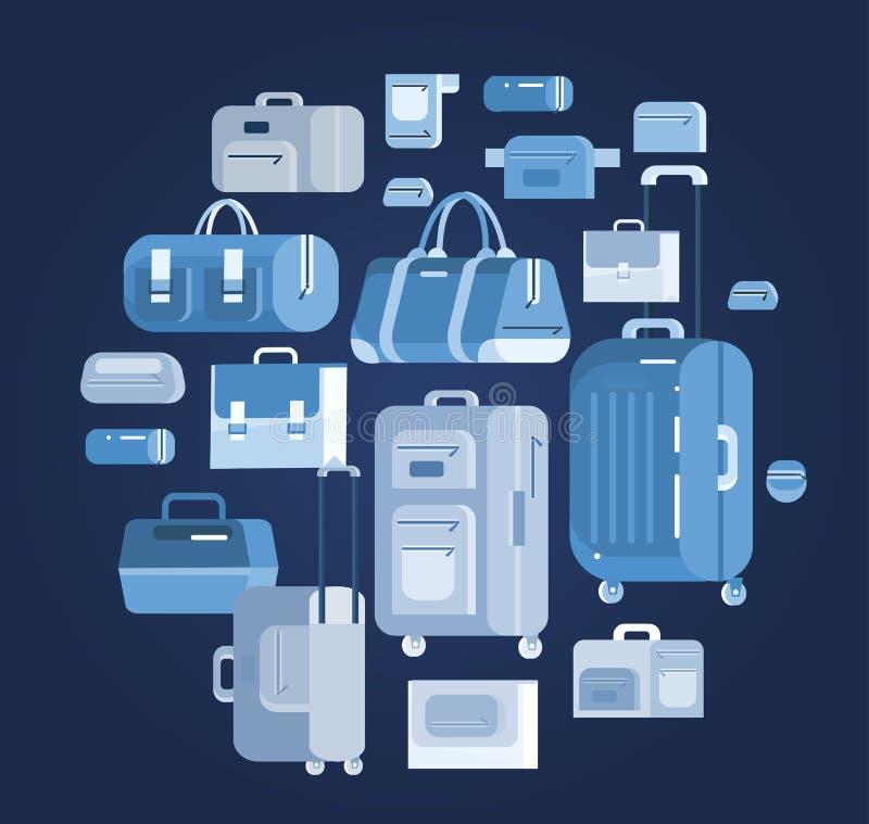 Сумки перемещения Чемодан багажа бесплатная иллюстрация