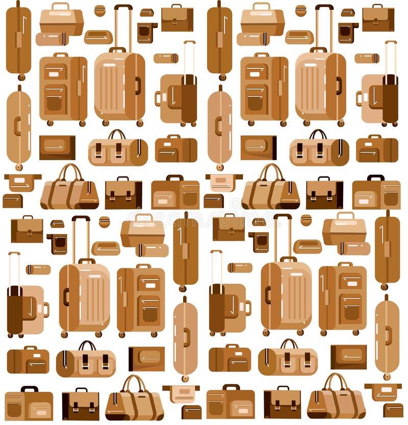 Сумки перемещения Чемодан багажа иллюстрация вектора