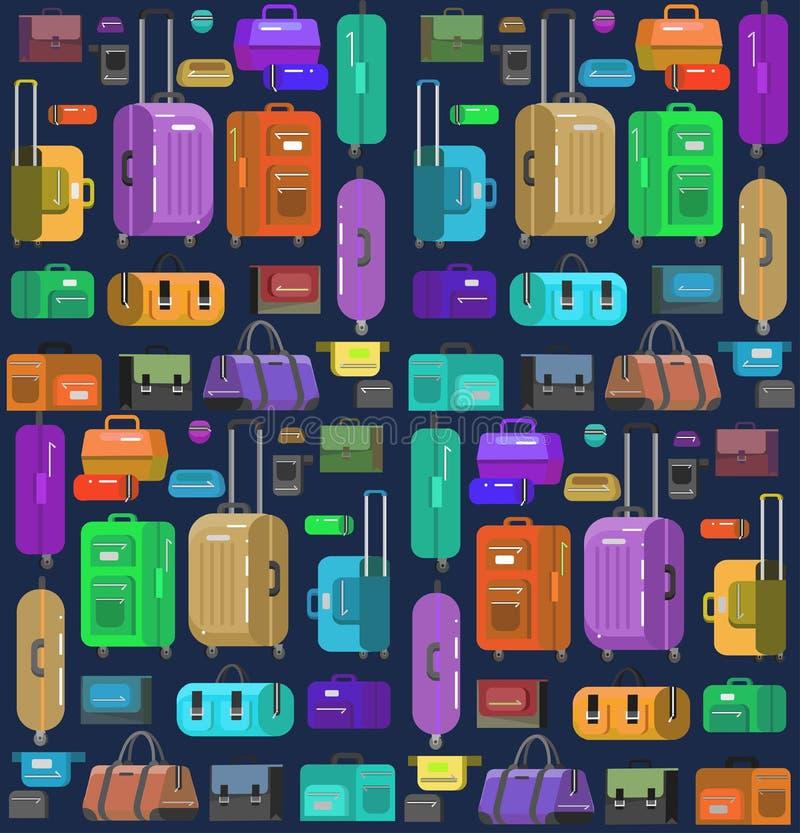 Сумки перемещения Чемодан багажа иллюстрация штока