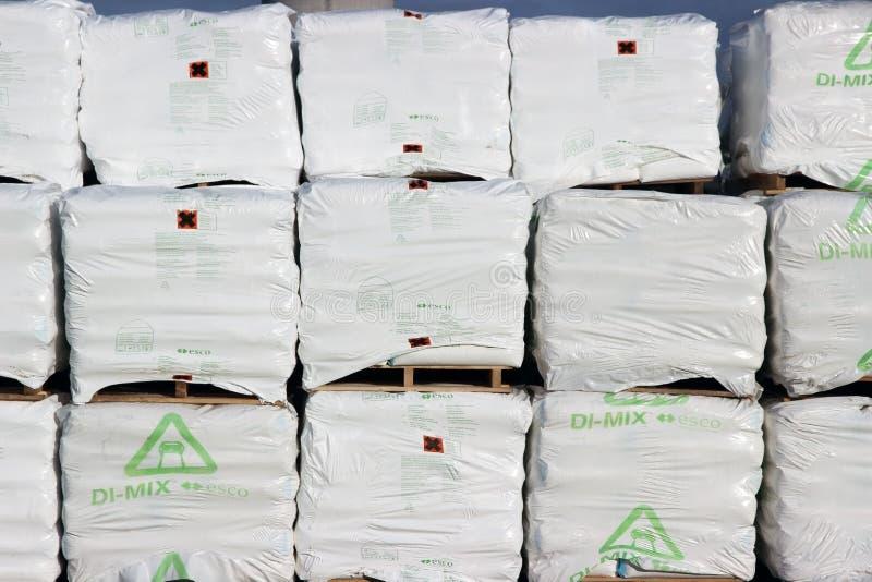 Сумки соли навальные стоковое фото