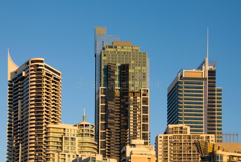 сумрак города зданий стоковая фотография rf