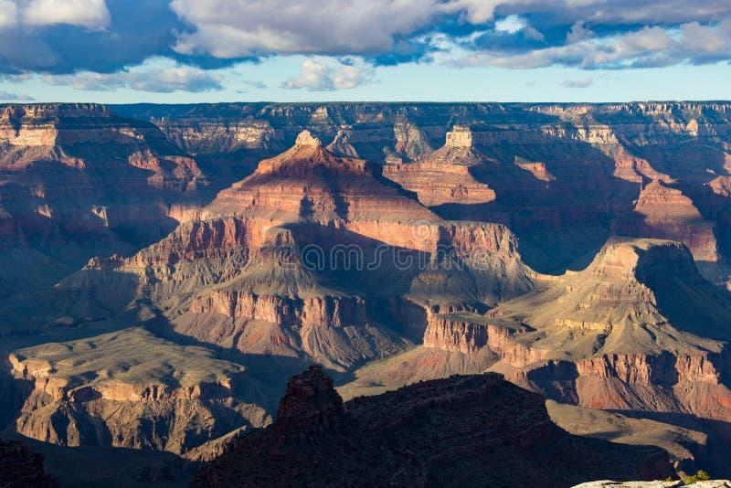 сумрак каньона грандиозный стоковая фотография rf