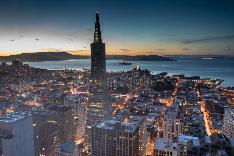 Сумрак над Сан-Франциско стоковые фото