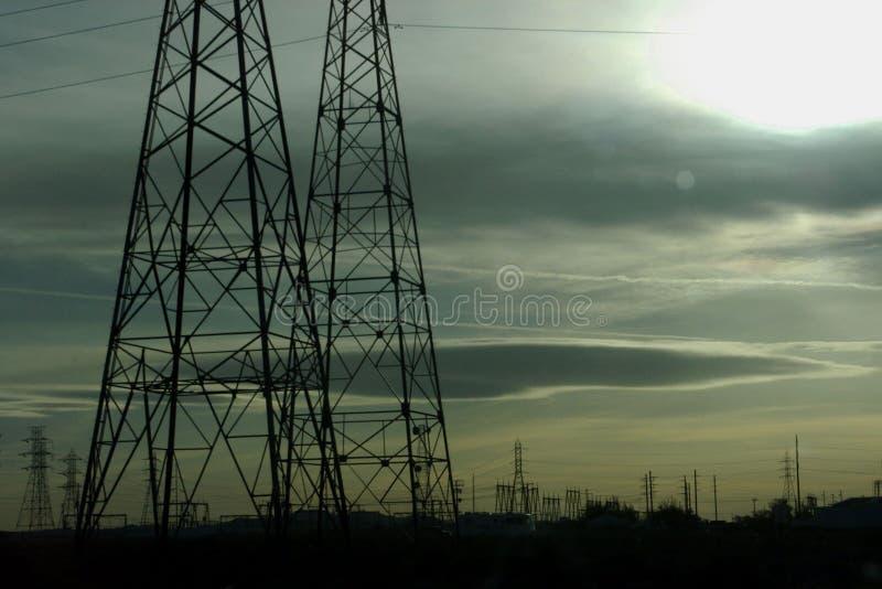 сумрак электрический стоковое фото rf