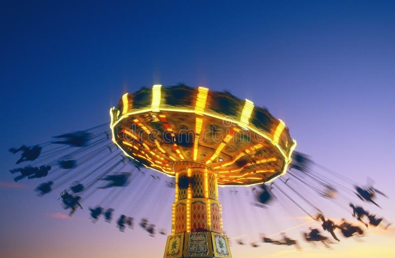 сумрак carousel стоковое фото