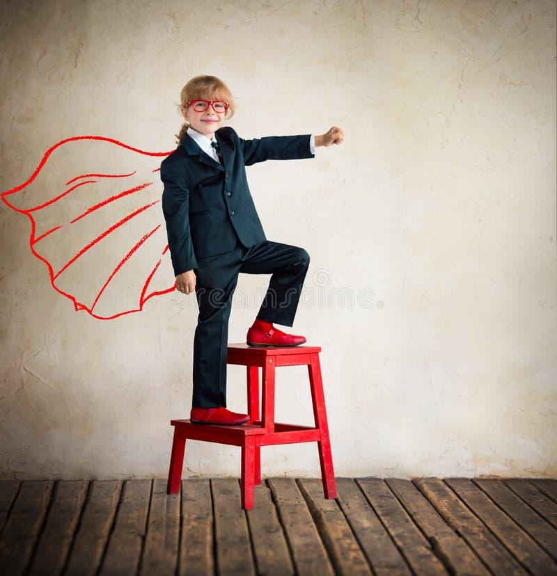 Супергерой коммерсантки стоковое фото rf