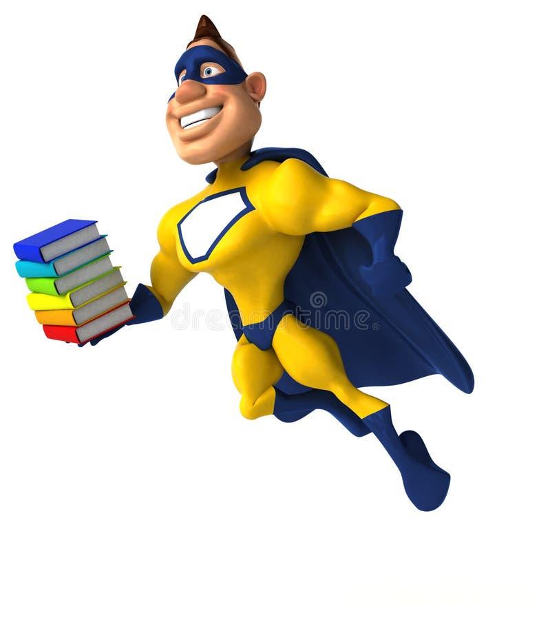Супергерой потехи иллюстрация вектора
