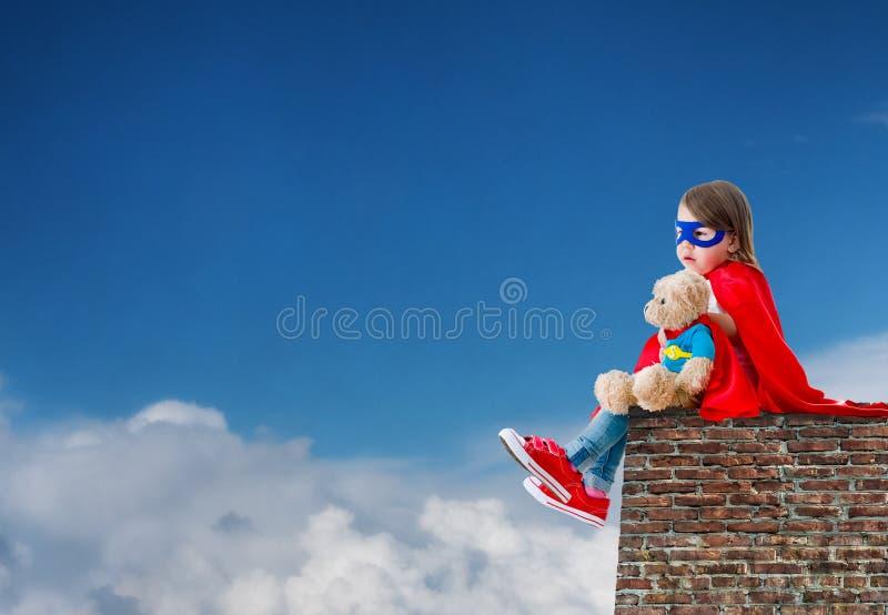 Супергерой ребенка стоковые фото