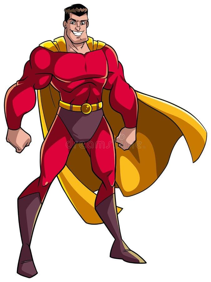 Супергерой стоя высокорослый иллюстрация вектора