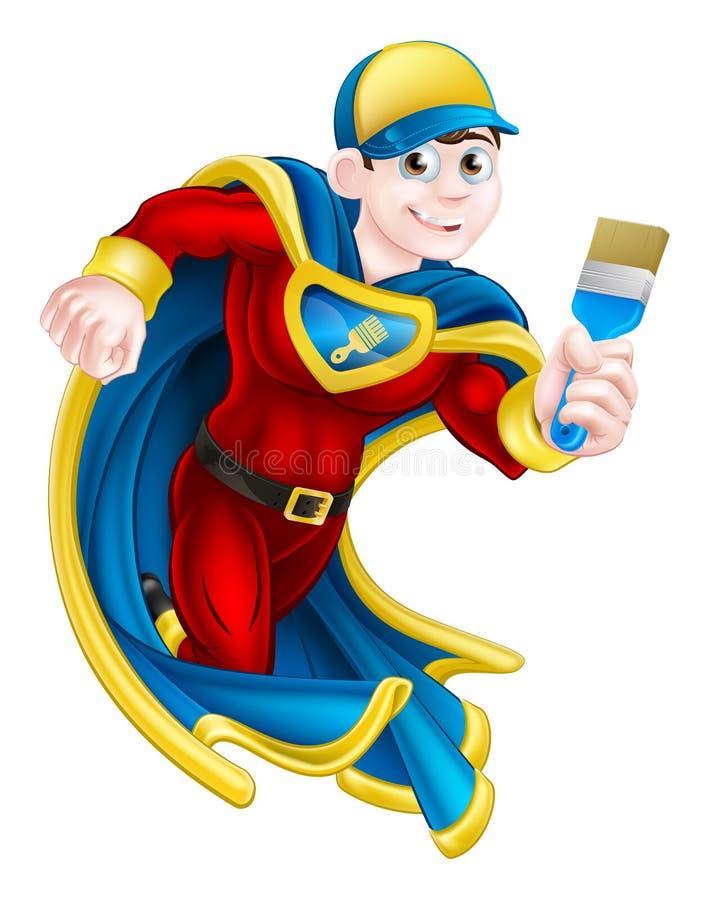 Супергерой Decortator художника иллюстрация штока