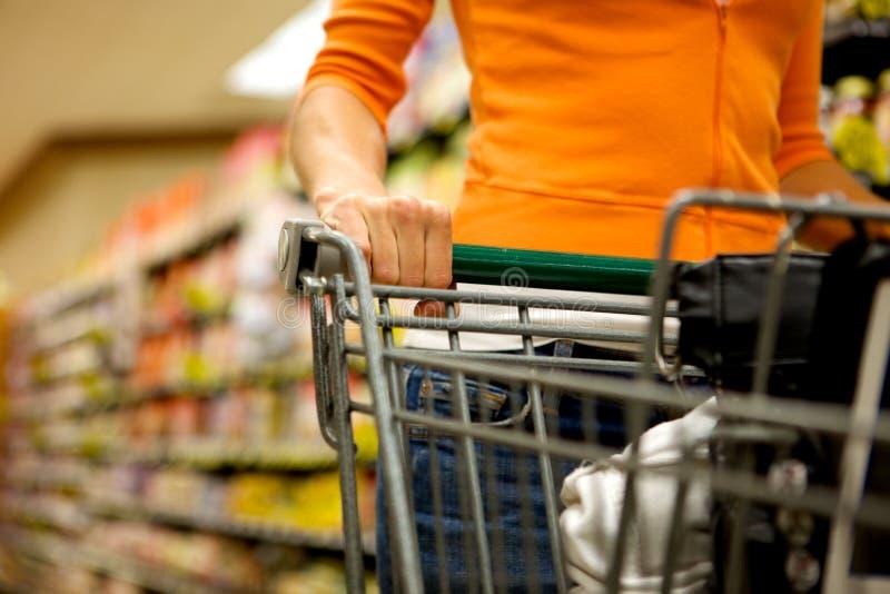супермаркет покупателя стоковое фото rf