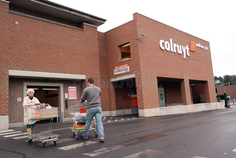 Супермаркет Colruyt стоковые изображения rf
