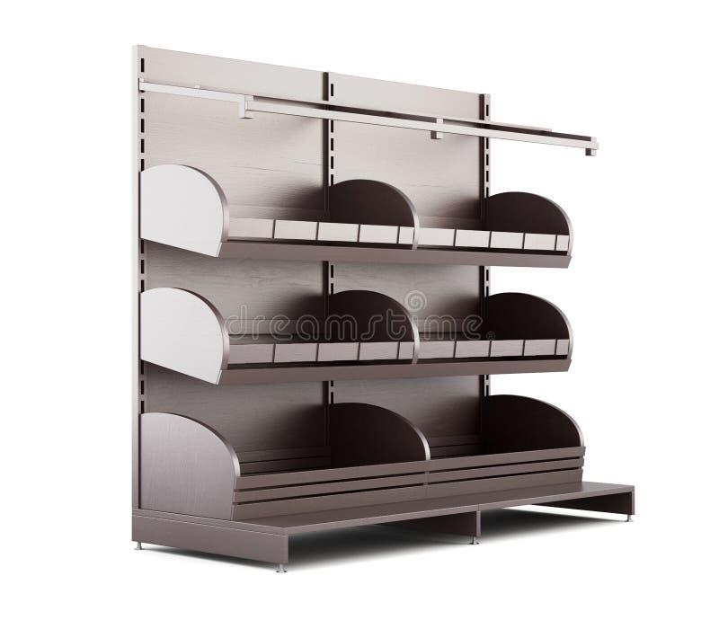 Супермаркет shelves для продуктов хлебопекарни на белой предпосылке 3 бесплатная иллюстрация