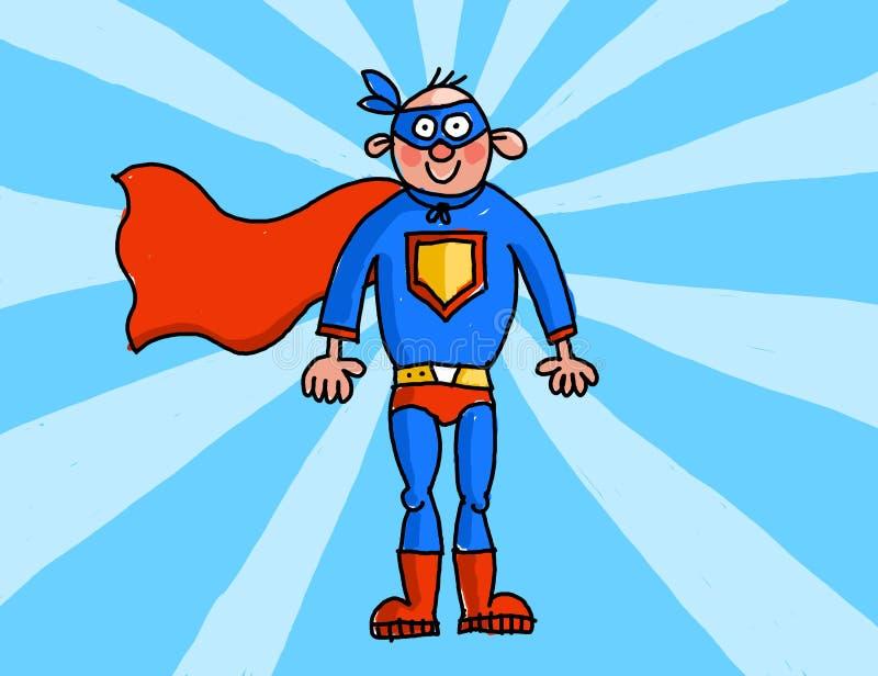 Супермен иллюстрация вектора