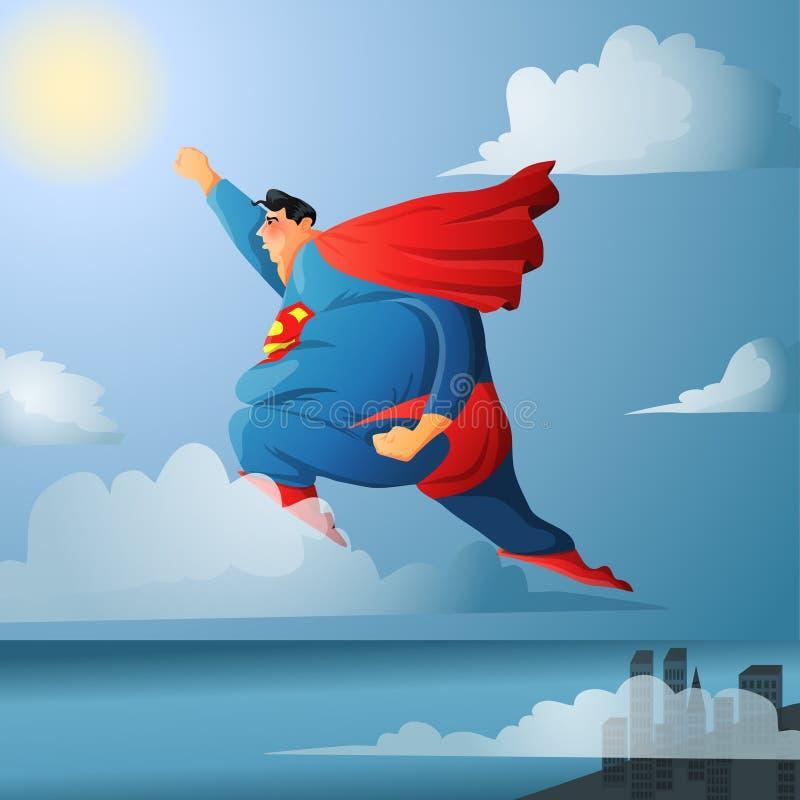 супермен иллюстрация штока