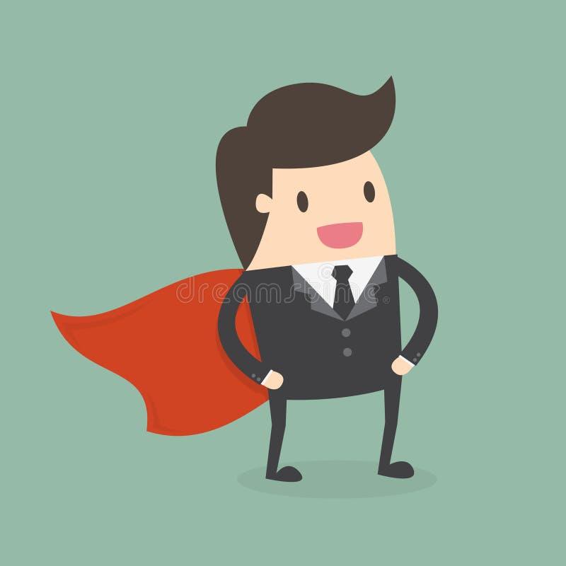 Супер бизнесмен бесплатная иллюстрация
