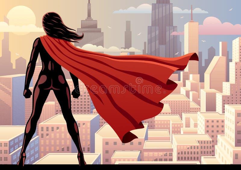 Супер вахта 2 героини иллюстрация вектора