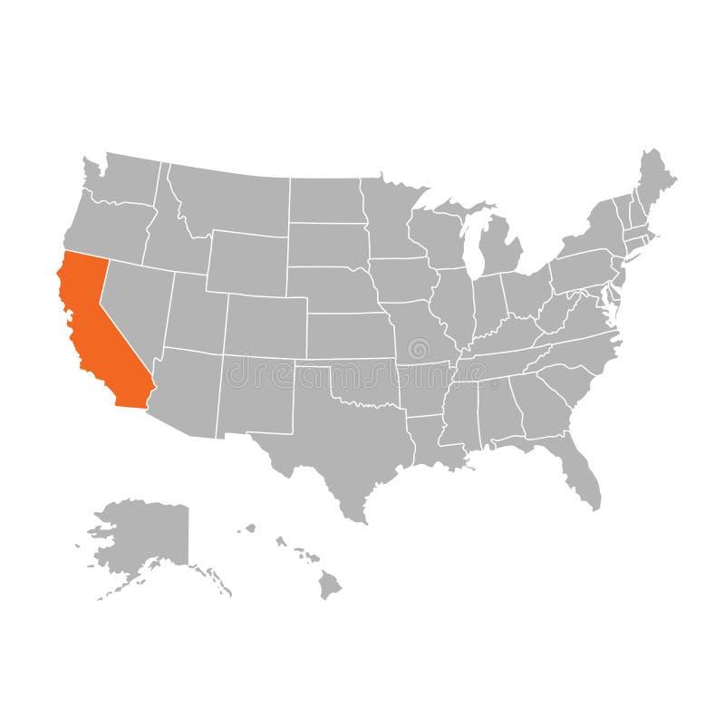 Супер высокий вектор и флаг карты США детали иллюстрация вектора