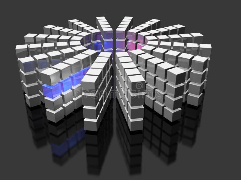 Супер высокопроизводительный компьютер иллюстрация штока