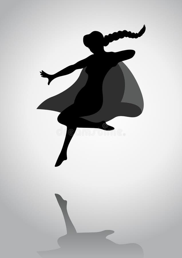 Супер героиня иллюстрация вектора