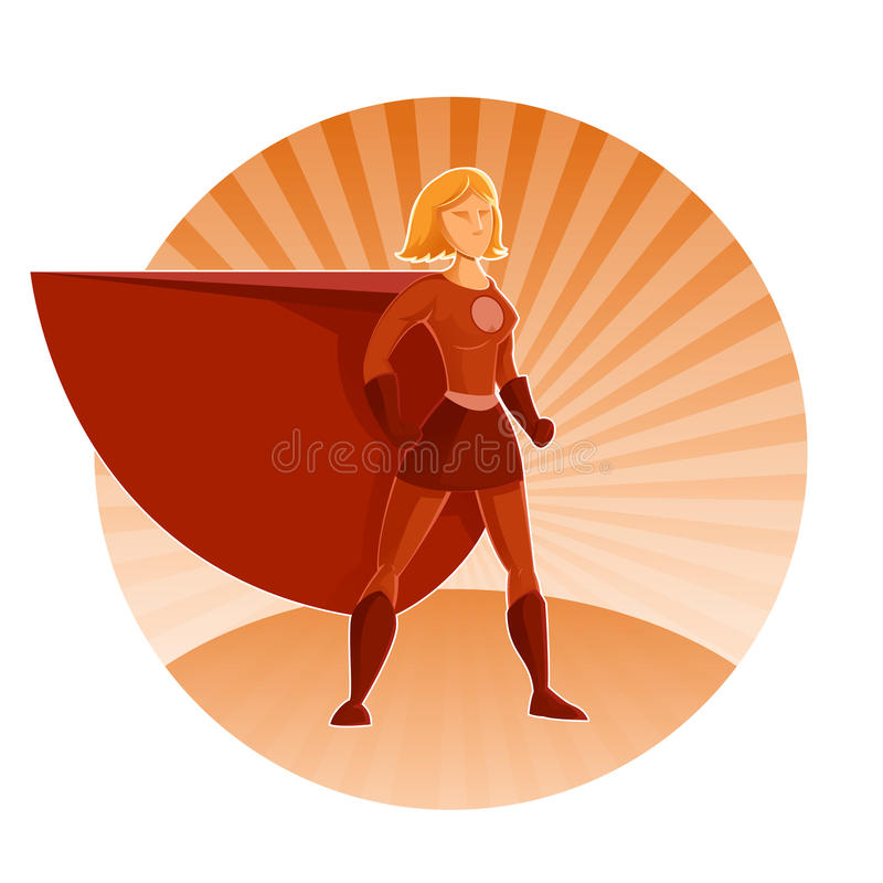 Супер героиня иллюстрация штока