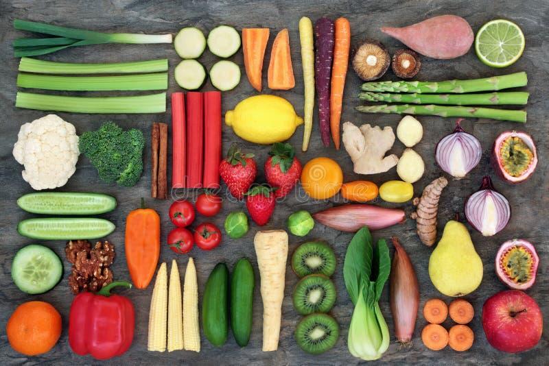 Супер еда для хороших здоровий стоковое изображение