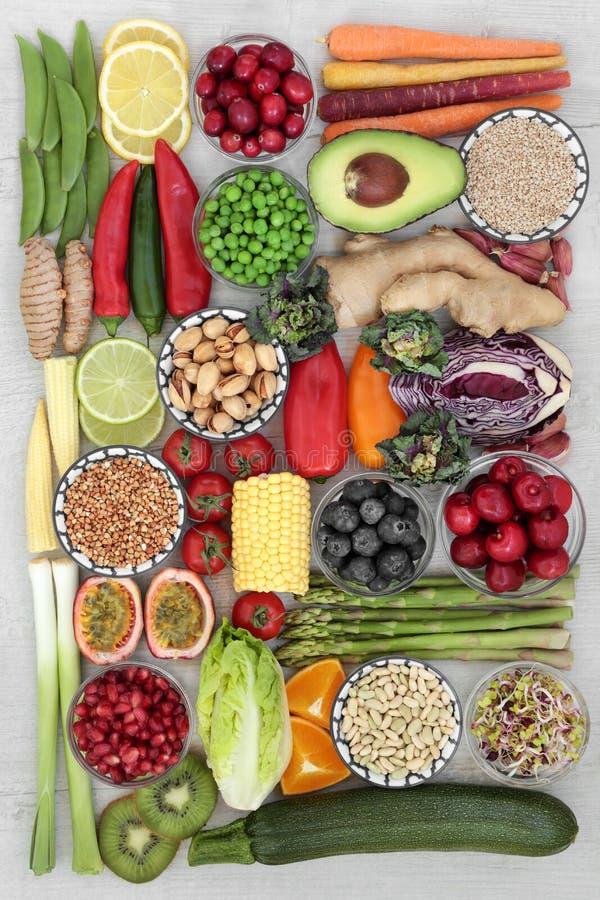 Супер еда для хороших здоровий стоковое изображение rf